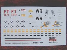 Minicraft Lockheed AC-130H gunship 1/144 scale decals only new