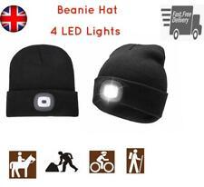 LED Beanie Hat With Battery Unisex High Powered Head Lamp Light Winter Work Bike