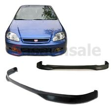 Made for 1999-2000 Honda Civic Coupe Sedan 2dr 4dr TR Style Front PU Bumper Lip