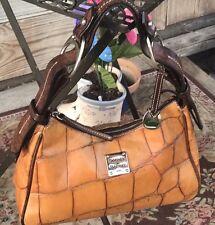 Beautiful Very Unique Dooney Bourke Croc Embossed Hobo Shoulder Bag