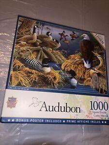MasterPieces Audubon - Lake Life 1000-Piece Linen Jigsaw Puzzle 72022