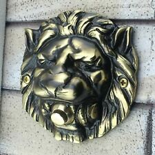 Large Solid Brass Lion's Head Push Button Door Bell Lot Finishes