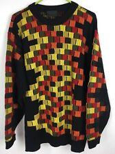 Carlo Colucci Mens XL Crewneck Knit Pullover Sweater Jumper Wool Blend Vtg Retro