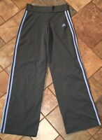 Woman's Adidas Gray And Blue Warmup Athletic Pants Size M X 29 Euc
