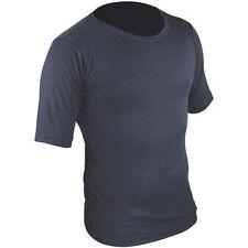Abbiglimento sportivo da uomo blu manica corta in poliestere