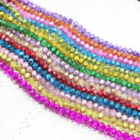 Wholesale Crystal Glass Rondelle Faceted Loose Spacer Beads 2mm3mm4mm6mm8mm10mm