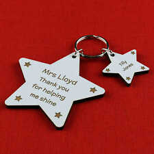 Personalised Teacher Keyring Gift Thank You End of Term Leaving Present School