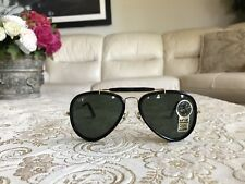 Vintage B&L Ray Ban Traditionals Style G Black Outsdoorman Aviator W0936....NOS