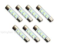 7 WARM WHITE 8V LED Lamp Fuse-Type Bulbs for Marantz 2238, 2238B, 2240 - 7WW