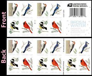 US 5317-5320 5320b Birds in Winter forever horz gutter booklet 20 MNH 2018