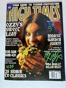 HIGH TIMES - OZZY  - SIGNED RVD MAGAZINE