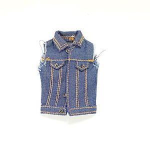 SU-DMJ-SS: 1/12 Denim Vest Jacket for Mezco Marvel Legends WWE Body (No Figure)