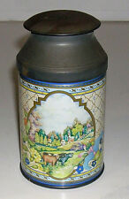 Antique Vintage English Avonova Avon Gifts Tin Charming Pastoral Scenes England