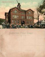 BRADFORD PA HIGH SCHOOL ANTIQUE POSTCARD