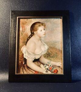 Tableau / Peinture - Jeune Fille aux Fleurs de A. Renoir - Reproduction DIFAC
