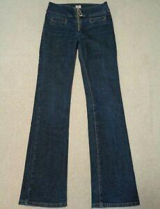 """Miss Sixty Size 28 Jeans Bootcut 33"""" Long Leg Large Zip Y2K UK 8 - 10"""