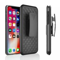 For iPHONE XR - ARMOR CASE COMBO SWIVEL BELT CLIP HOLSTER COVER with KICK-STAND