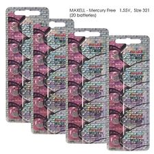 Maxell Hologram SR616SW 321 SR616 Silver Oxide Watch Batteries (20Pcs)