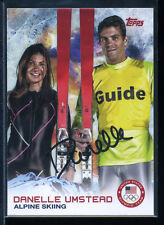 Danelle Umstead signed autographed 2014 Topps Winter Olympic AUTO #85 SOCHI