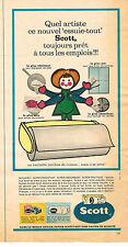 PUBLICITE  1967   SCOTT  essuie-tout