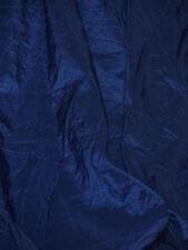 Superbe tissu  taffetas Bleu indigo bleu saphir en 145 cm de large au mètre