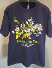 "Walt Disney World Navy Blue T-Shirt  ""Leader of the Pack"" - Size Large"