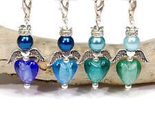 10 Bastelset Engel Anhänger Herz DIY Silverfoil Schutzengel Charms Anhänger bunt