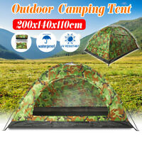 1-2 Person Camouflage Camping Tent Outdoor Hiking Travel Waterproof Carry  !!