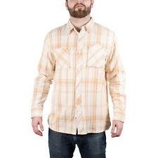 Men's UNDEFEATED Plaid Button Down Shirt Orange size L (T72) $64