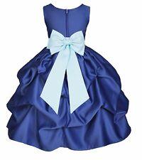 Flower Girl Dress Wedding Bridesmaid Birthday Pageant Formal Graduation Princess