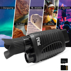 Monocular Night Vision 2K for Scouting Night Hunting Cave Exploration Security