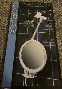 Zadro ZW01 Fogless Shower Mirror - White