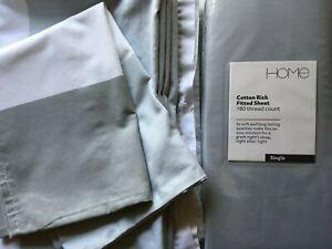 Bundle: NEW grey fitted sheet +single duvet set