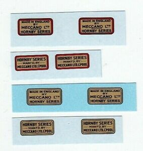 Hornby O Gauge Trade Marks Wagons etc | 4 To Choose From | Waterslide Transfer