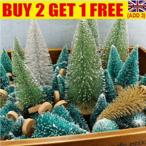 12X Mini Christmas Tree Ornaments Xmas Home Party Desktop Decoration Gifts UK