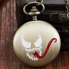 Vintage Venom Quartz Pocket Watch Men Retro Necklace Chain For Boys Child Gifts