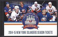 2014-15 NHL NEW YORK ISLANDERS SEASON FULL UNUSED TICKET BOOK - LAST YEAR NASSAU