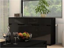 Black 81cm-100cm Height Sideboards, Buffets & Trolleys