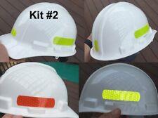 Reflective Hard Hat Decals Kit 2 Tape Oralite V98 Orafol Prismatic 7 Colors Usa
