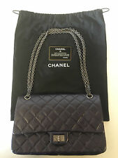 Chanel Flapbag Dark Purple Purse with Original Tags and Authentication NWT
