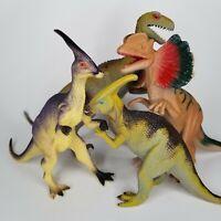 Dinosaurs Deinonychus Parasaurolophus and 2 More  Plastic Toy (4)
