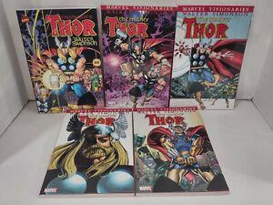 Complete Set Thor Visionaries Walter Simonson Trade Paperbacks Vol. 1-5 Loki Sif