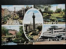 c1955 - Dublin Multiview - showing Dublin Airport, Peoples Park, O'Connell St.
