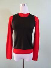 SISLEY Italian Womens Vtg Black Wool Knit Sleeveless Jumper Top sz Uk 6 XS J18