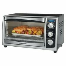 1500W Convection Countertop Oven - Black, Chrome Rack