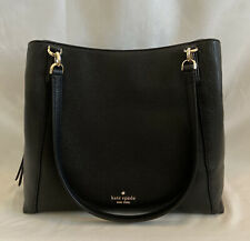 Kate Spade Jackson Medium Triple Compartment Shoulder Bag in Black NWT