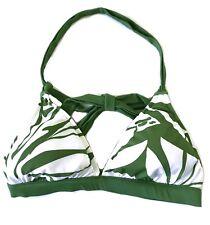$76 Quiksilver Leilani Women's Cali Banded Halter Bikini Top Green Size 8