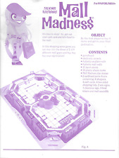 MALL MADNESS Full Instruction Directions Sheet Book MB 2005 Parts