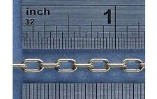 Cadena de enlace oval latón caldercraft 4.5 enlaces por pulgada (1mtr) (C65430)