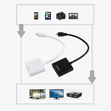 1080P Micro HDMI to VGA Female Cable Converter Adapter Projector Laptop Tablet